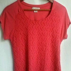 Liz Claiborne Women's Short Sleeve Top Pink Small